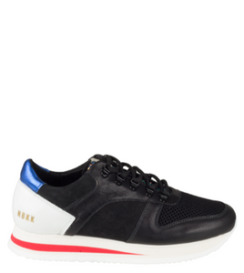 WMN Black Nubikk Evi Jaw Leather Runners