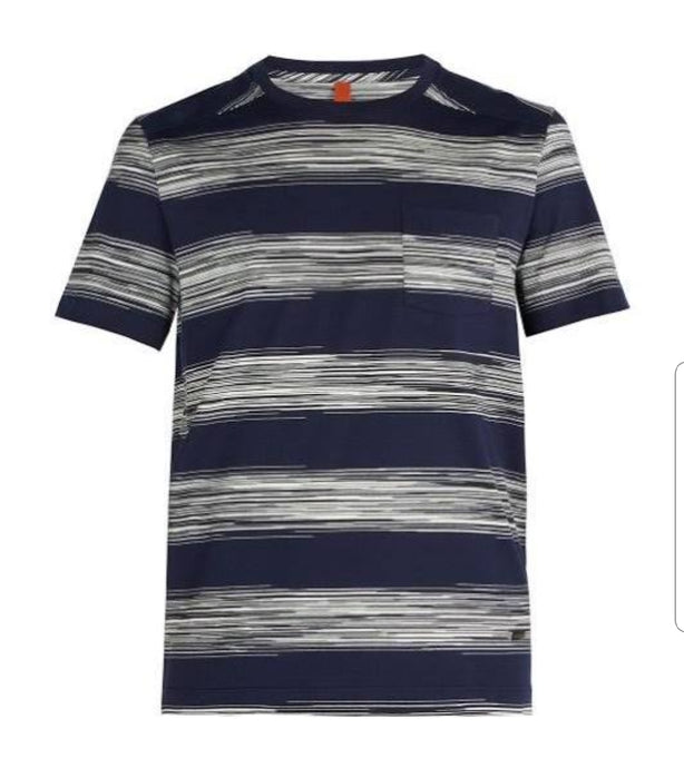Navy/White Missoni Pocket T-Shirt