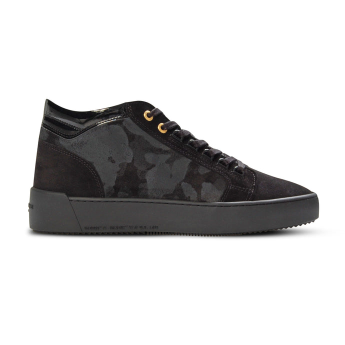 Black Suede/Patent Camo Propulsion Mid Sneakers