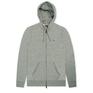 Light Grey Tracksuit Top Zip Hoodie