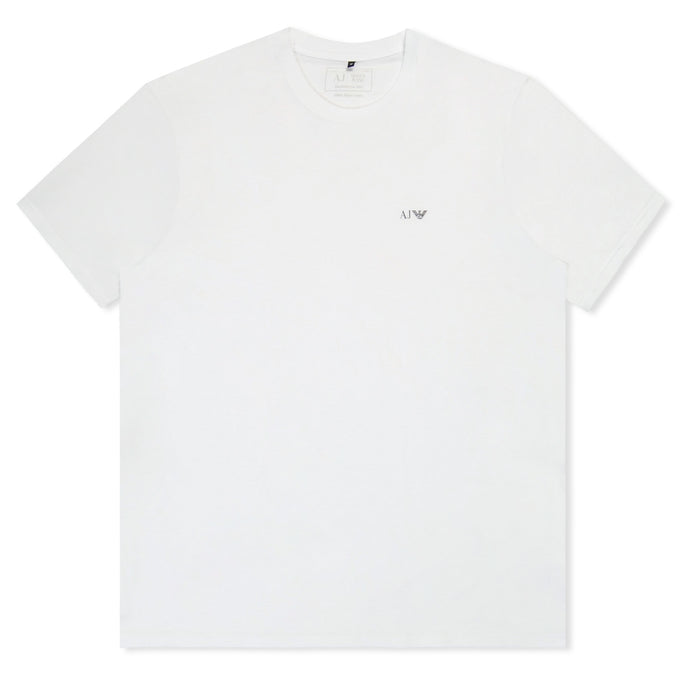 White Basic Logo Crew Neck T-Shirt