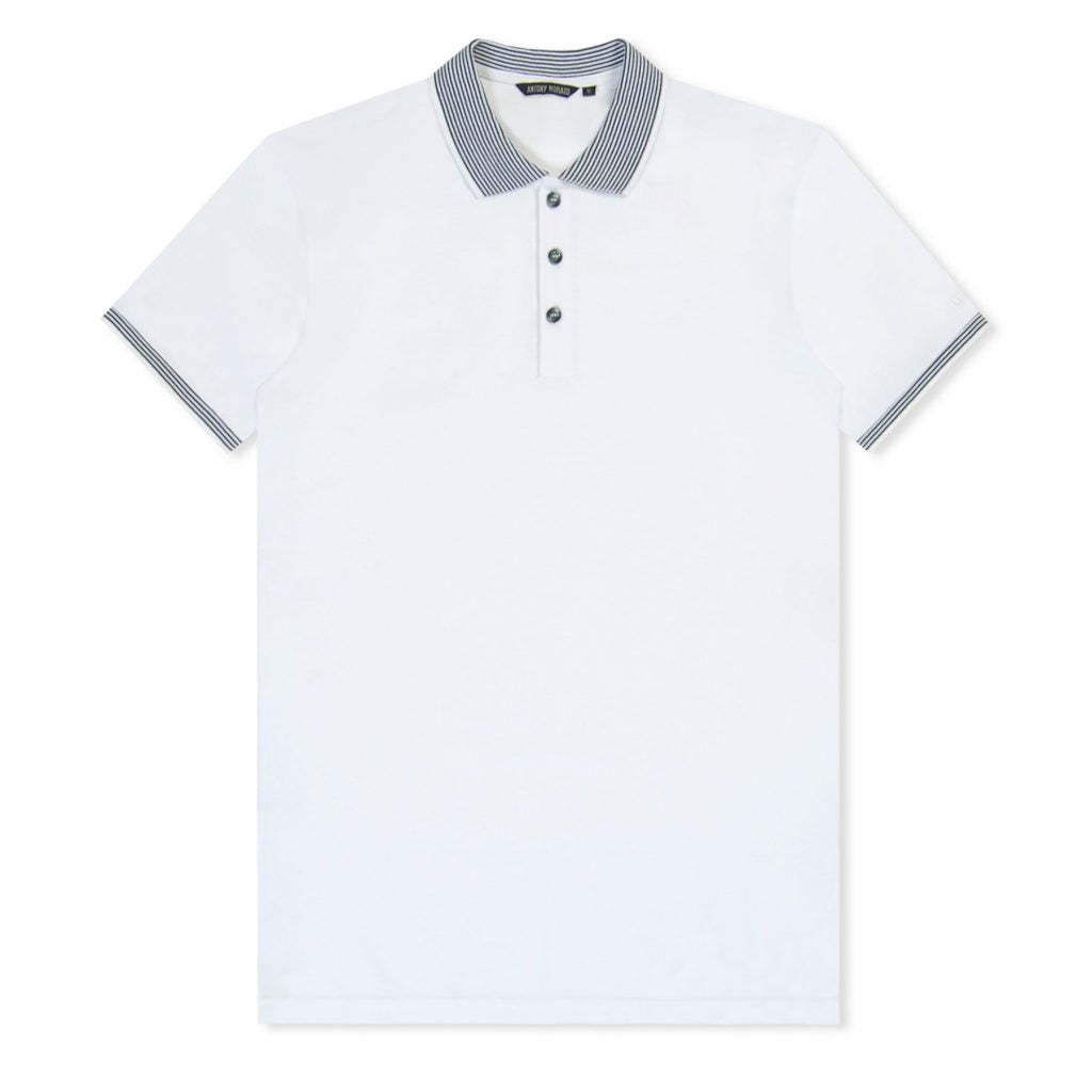White Contrast Colour Polo