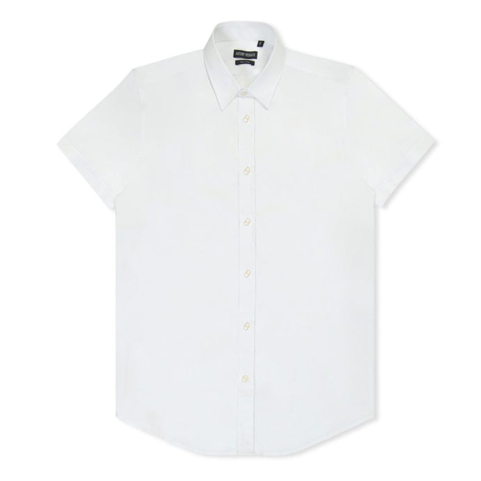 White Slim Short Sleeve Shirt