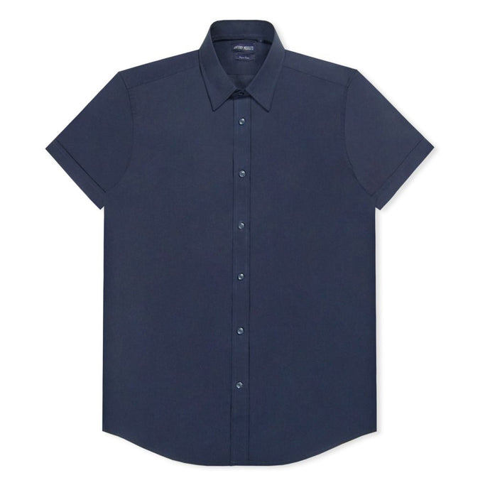 Navy Slim Short Sleeve Shirt