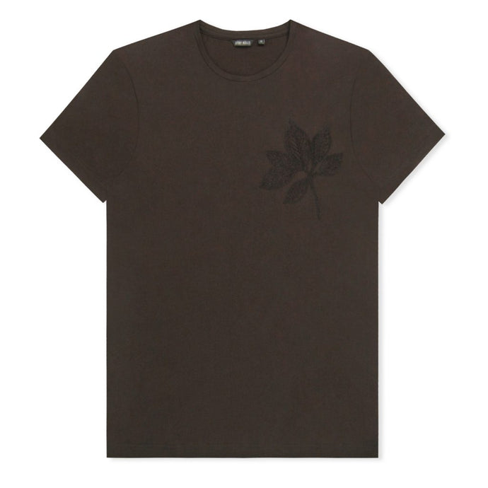 Black Embroided Flower T-Shirt