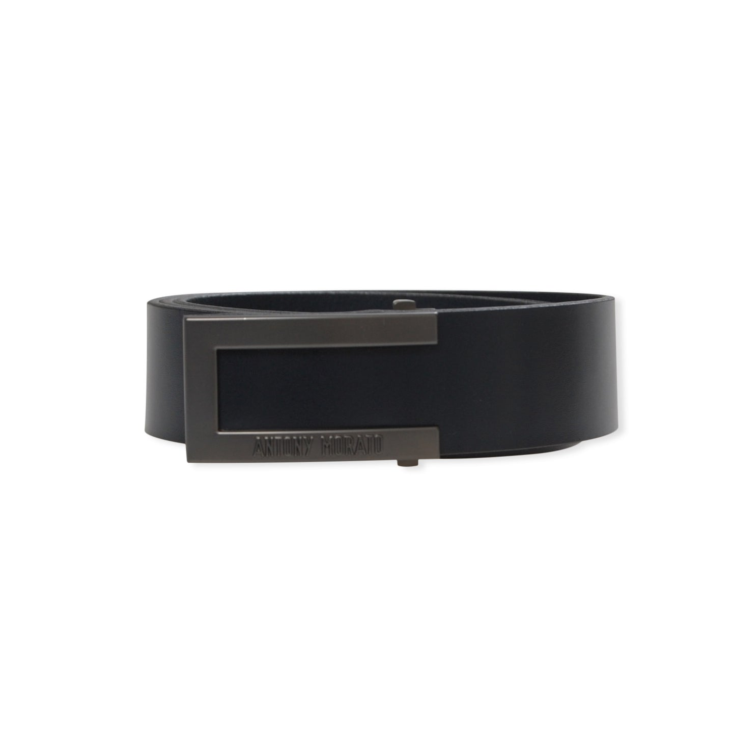 Black Antony Morato Silver Buckle Belt