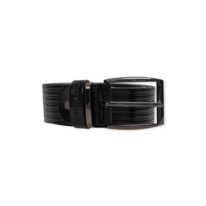 Black Etched Antony Morato Leather Belt