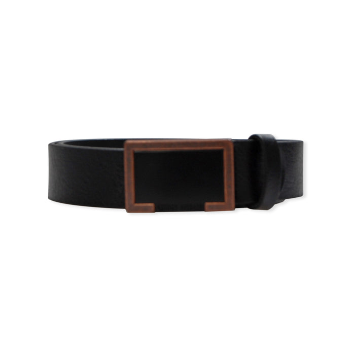 Black/Copper Buckle Antony Morato Leather Belt