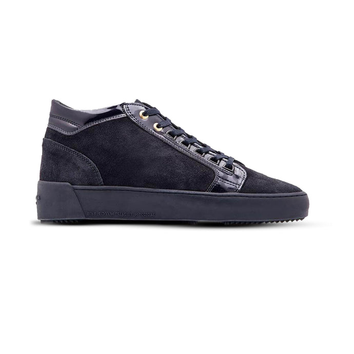 Navy Android Homme Suede/Patent Propulsion Mid Trainers