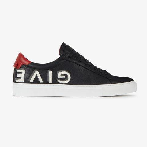 Black/Red Givenchy Urban Street Logo Trainers