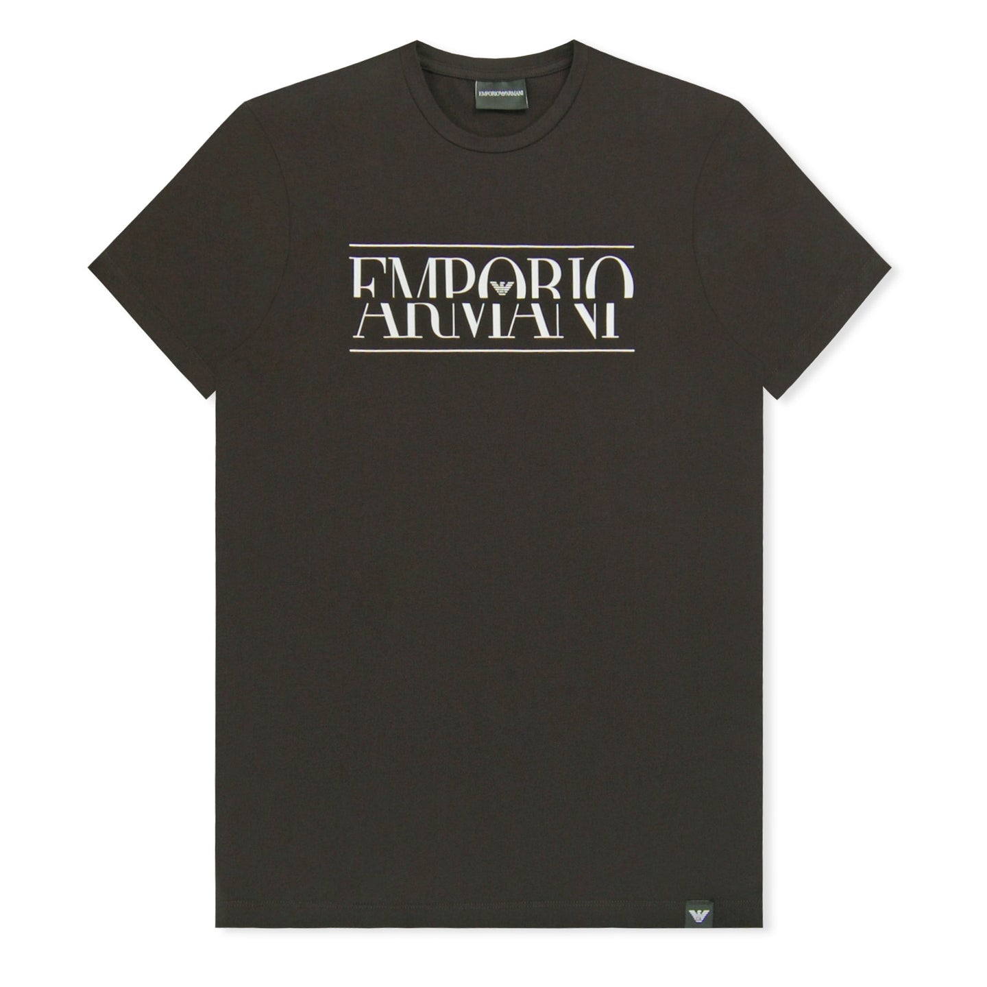 Black Emporio Armani Sliced Logo T-Shirt
