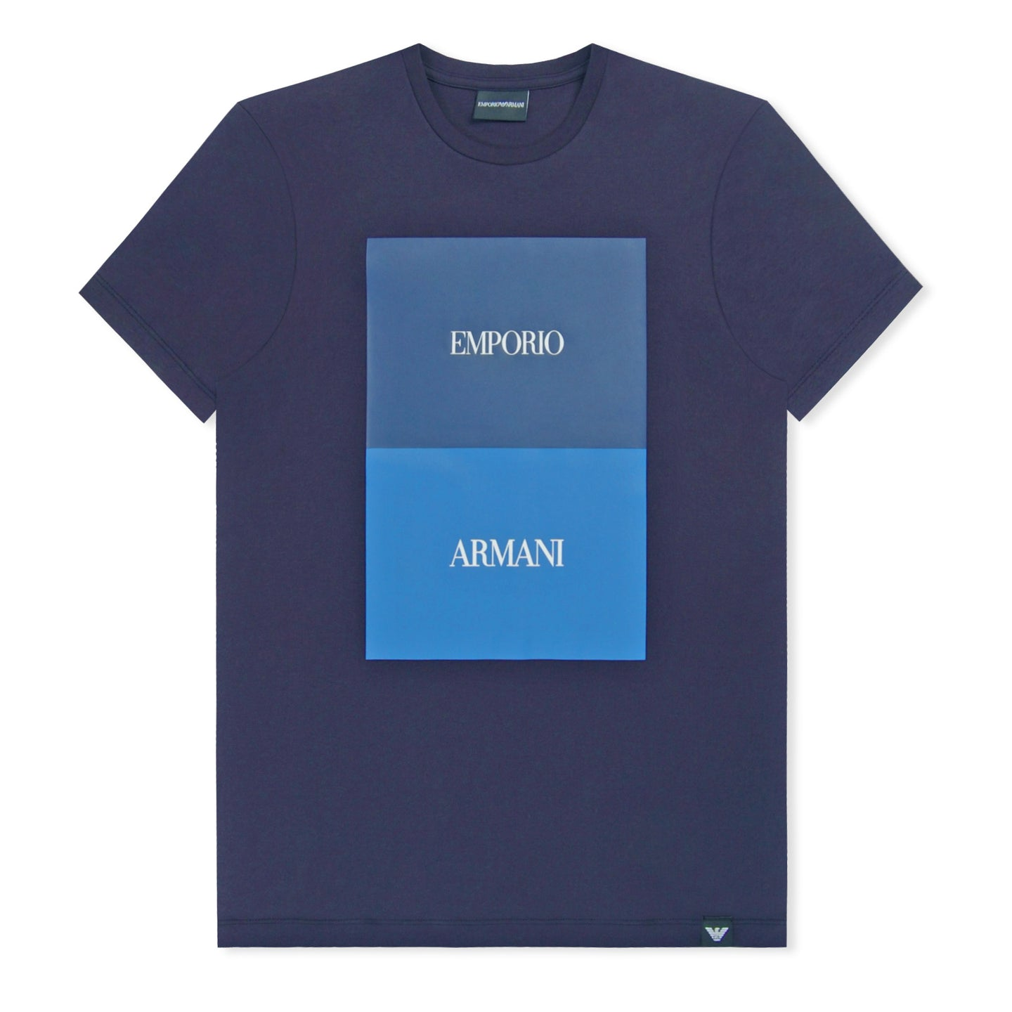 Blue Emporio Armani Block T-Shirt