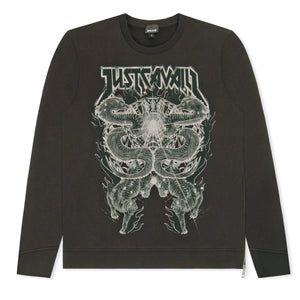 Black Just Cavalli Dragon & Tiger Sweatshirt