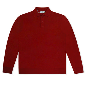 Deep Red Untitled Atelier Knitted Polo