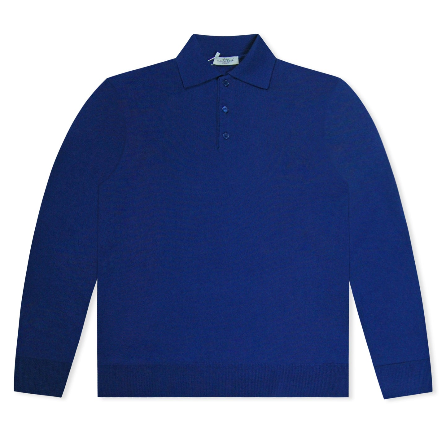 Untitled Atelier Royal Blue Knitted Polo