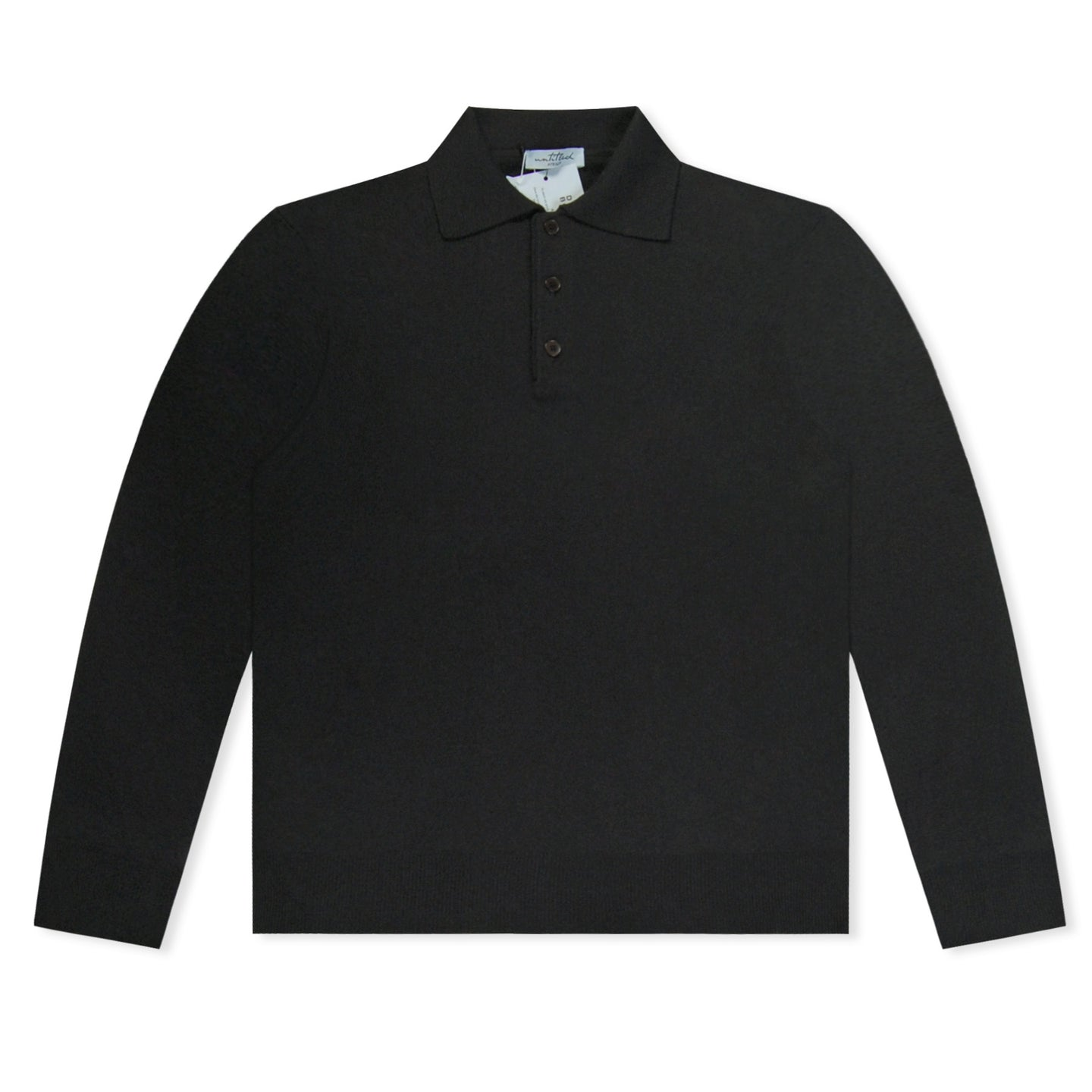 Black Untitled Atelier Knitted Polo