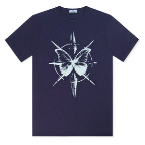 Navy Untitled Atelier Butterfly T-Shirt