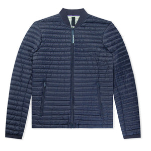 Navy Emporio Armani Bomber Bubble Jacket