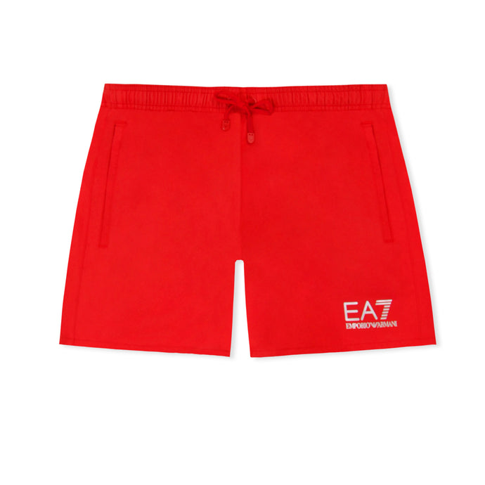 Red EA7 Plain Swim Shorts
