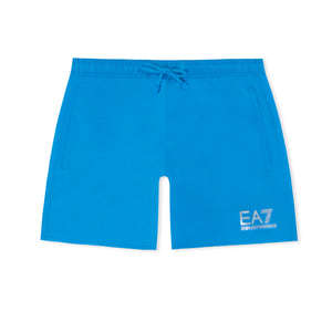 Electric Blue EA7 Plain Swim Shorts