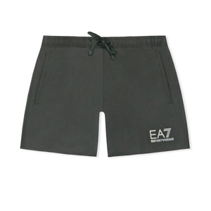 Black EA7 Plain Swim Shorts