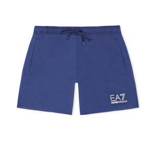 Navy EA7 Plain Swim Shorts