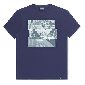 Navy Emporio Armani City Phone T-Shirt