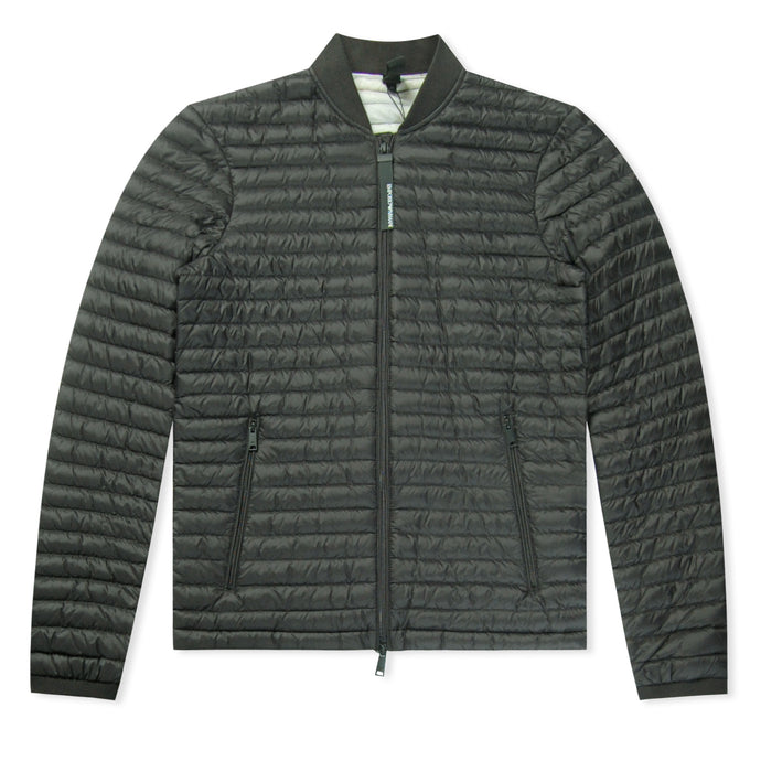 Black Emporio Armani Bomber Bubble Jacket