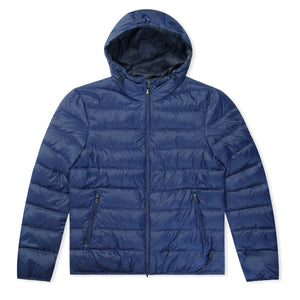 Navy Emporio Armani Reversible Bubble Jacket