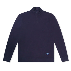 Navy Emporio Armani Knitted Jumper