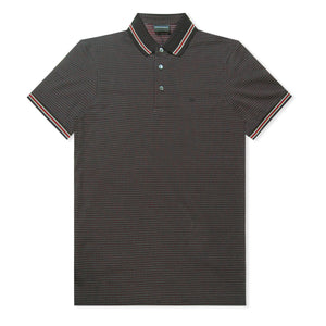 Black Emporio Armani Pattern Polo