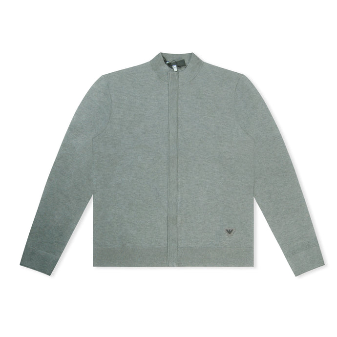 Grey Emporio Armani Knitted Cardigan