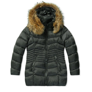 WMN Froccella Black NAT Long Bubble Jacket