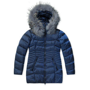 WMN Navy Blue Froccella Bubble Jacket