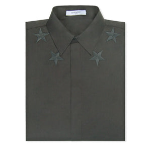Black Givenchy Star Long Sleeve Shirt