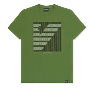 Khaki Emporio Armani Sliced Box T-Shirt