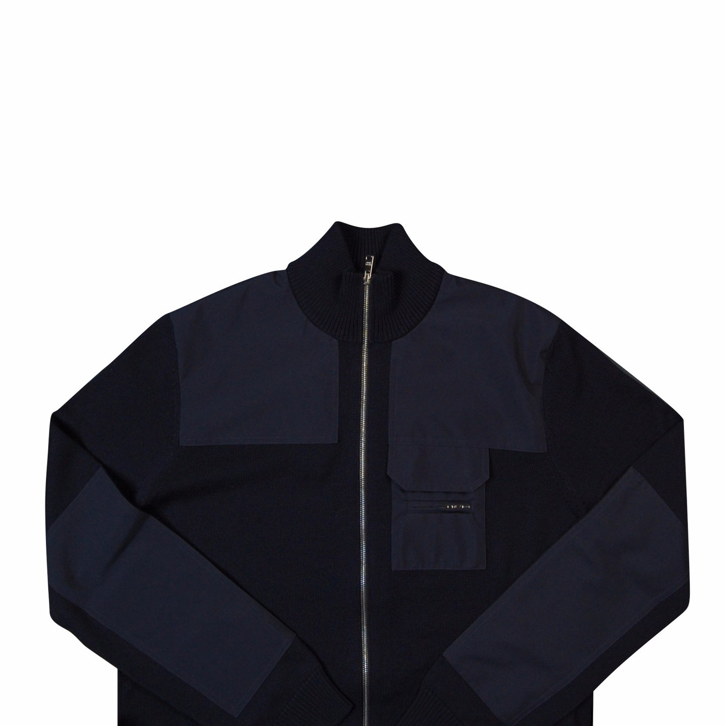 Navy Blue Prada Zip Through Cardigan