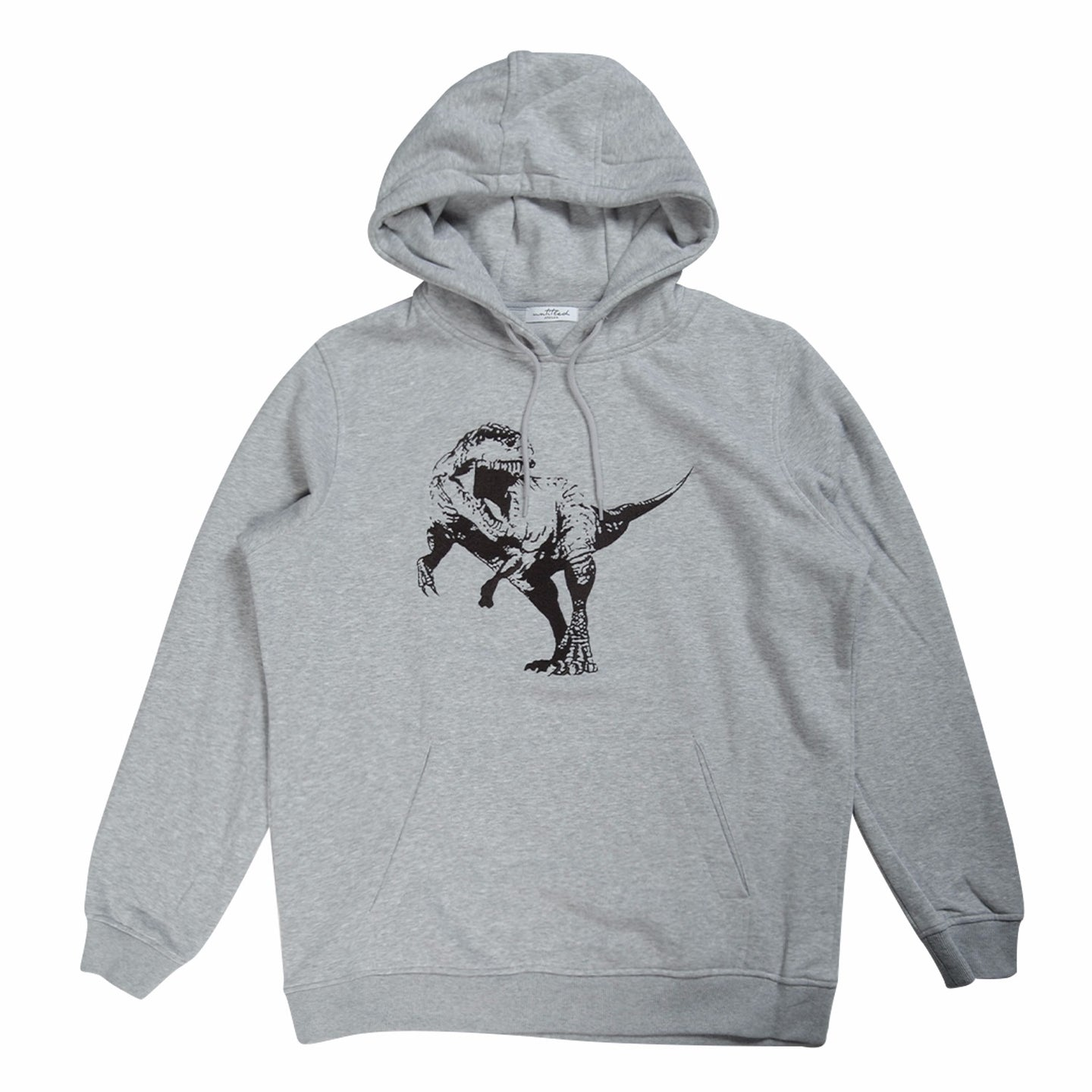 Grey Untitled Atelier Embroidered Dinosaur Hoodie