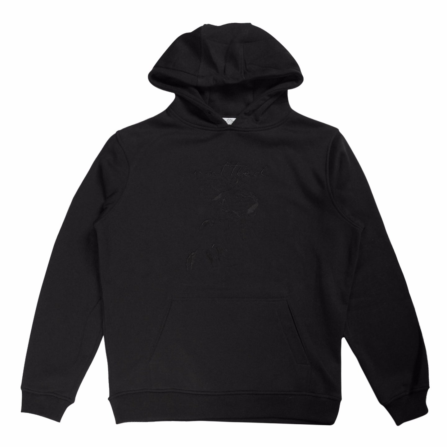 Black Untitled Atelier Embroidered Rose Hoodie