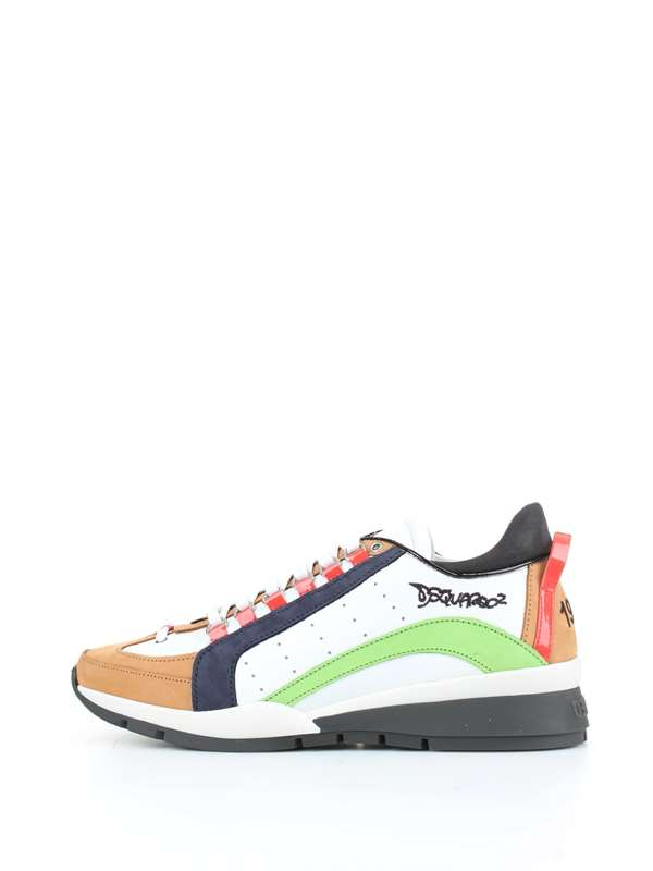 White/Green/Beige Dsquared2 Runners