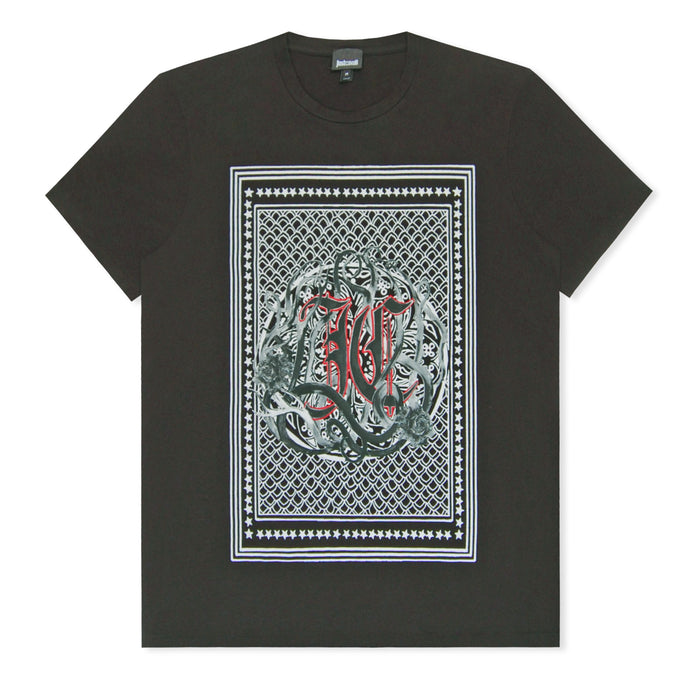 Black Block Print T-Shirt