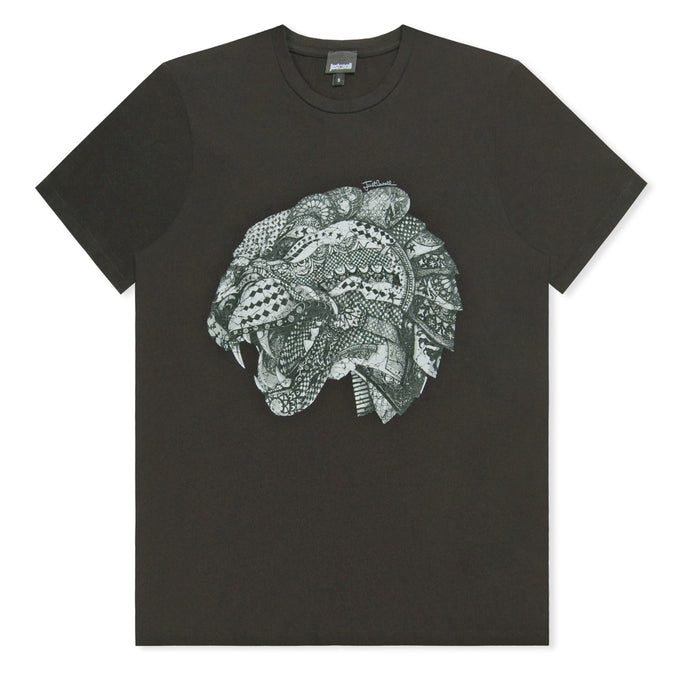 Black Patterned Panther T-Shirt