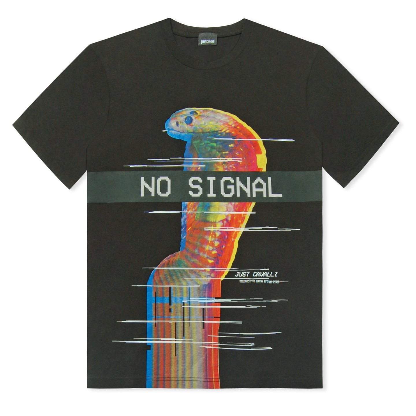 Black Just Cavalli No Signal T-Shirt