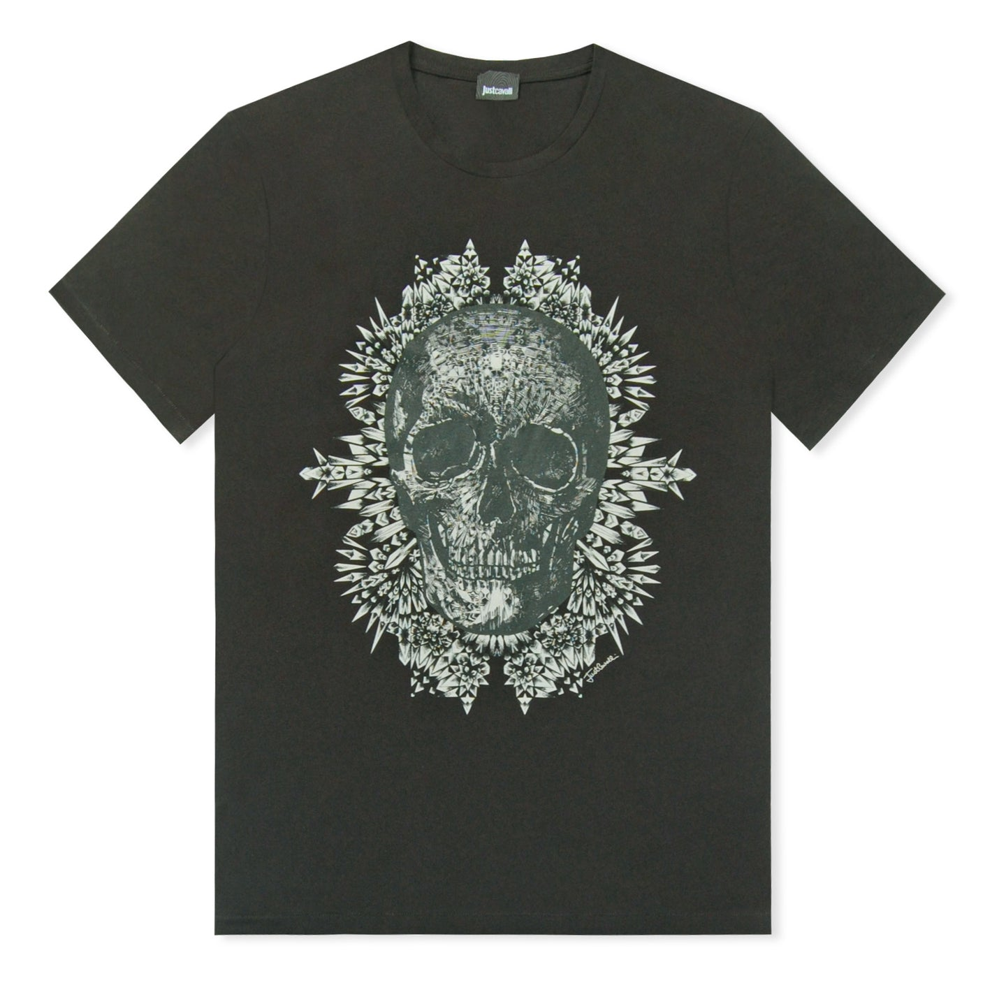 Black Just Cavalli Skull Print T-Shirt