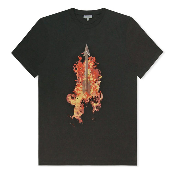 Black Flaming Arrow T-Shirt
