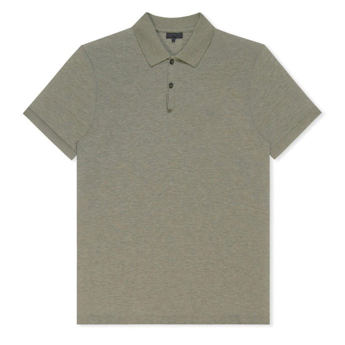 Grey Plain Pique Polo