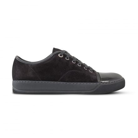 Black Suede/Patent Leather Cap Toe Sneaker