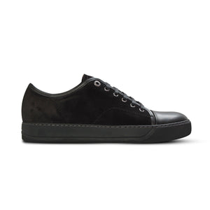 Black Lanvin Cap Toe Trainers