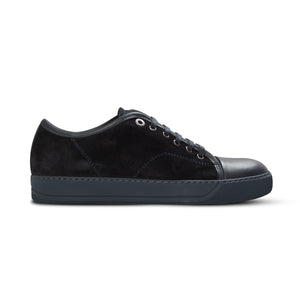 Navy Lanvin Cap Toe Trainers