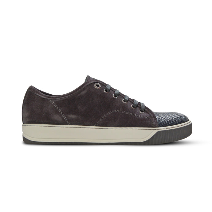 Dark Grey Lanvin Pattern Cap Toe Trainers